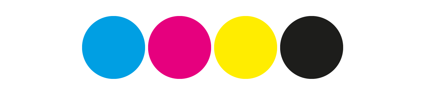 Blog post image showing CMYK colours