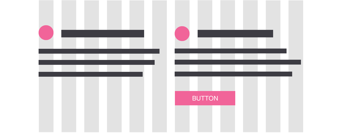 Image showing how a grid is used for web design