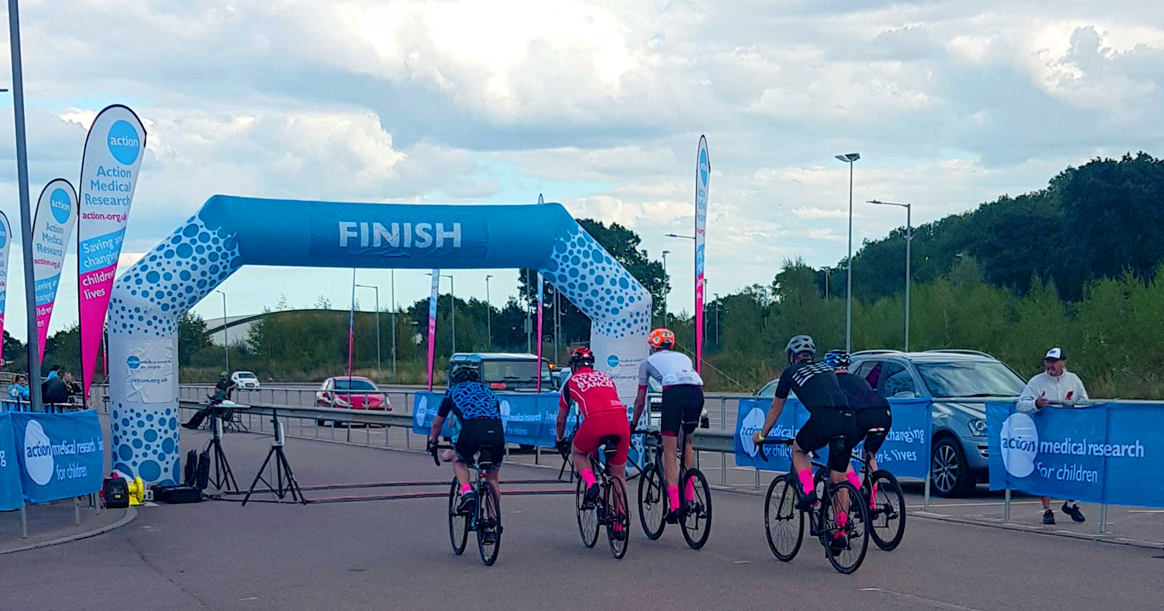 Image showing our team crossing the finish line